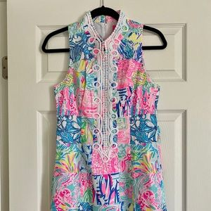 NWT Lilly Pulitzer Patchwork Alexa Shift Dress - 4